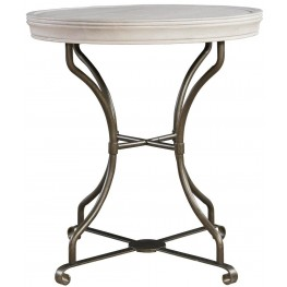 Elan Elm Round End Table
