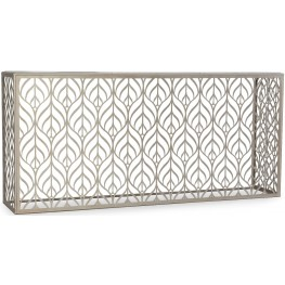 Melange White and Cream Lanier Hall Console