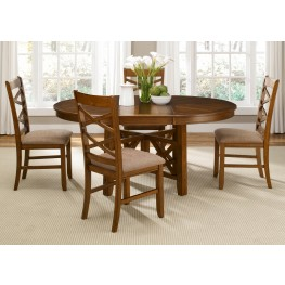 Bistro Oval Extendable Pedestal Dining Room Set