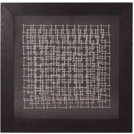 Abstract Silver & Black Nail Wall Art II
