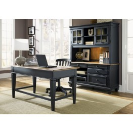 Bungalow II Black Jr Executive Home Office Set