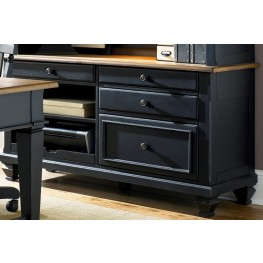 Bungalow II Black Jr Executive Credenza