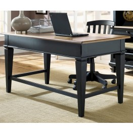Bungalow II Black Jr Executive Desk