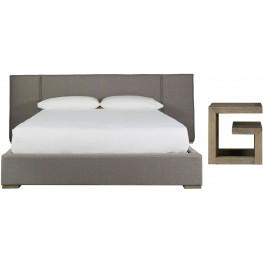 Connery Brown Wall Panel Platform Bedroom Set