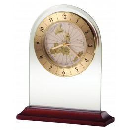 World Time Arch Table Clock