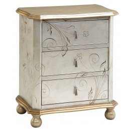 Silver/Gold Metallic Accent Chest