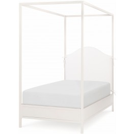 Summerset Ivory Twin Upholstered Canopy Bed