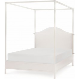 Summerset Ivory Full Upholstered Canopy Bed