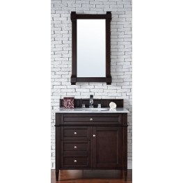 "Brittany 36"" Burnished Mahogany Single 2CM Top Vanity Set"