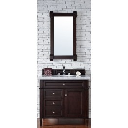 "Brittany 36"" Burnished Mahogany Single 4CM Top Vanity Set"