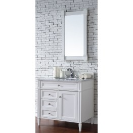 "Brittany 36"" Cottage White Single 2CM Top Vanity Set"