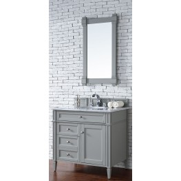 "Brittany 36"" Urban Gray Single 2CM Top Vanity Set"