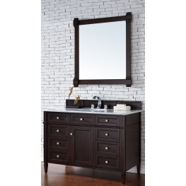 "Brittany 48"" Burnished Mahogany Single 2CM Top Vanity Set"