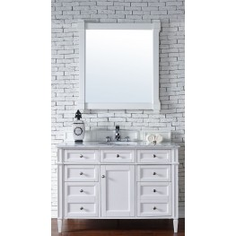 "Brittany 48"" Cottage White Single 2CM Top Vanity Set"