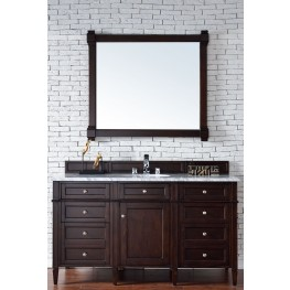"Brittany 60"" Burnished Mahogany Single 2CM Top Vanity Set"