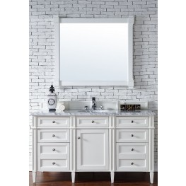 "Brittany 60"" Cottage White Single 2CM Top Vanity Set"
