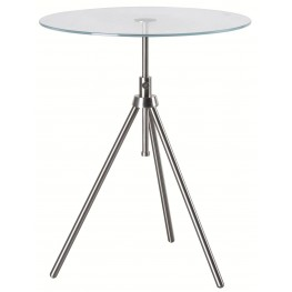 Axel Brushed Steel Accent Table