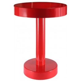 Weldon Red Powder Coated Accent Table