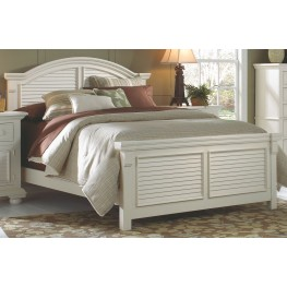 Cottage Traditions White Queen Panel Bed