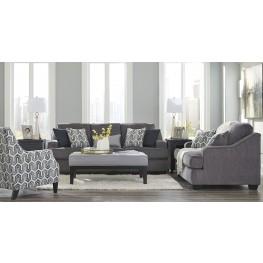 Gilmer Gunmetal Living Room Set