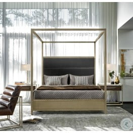Harlow Gold and Gray King Poster Bedroom Set