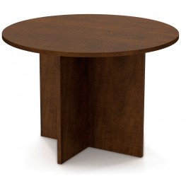 "Bestar 42"" Round Meeting Table With 1"" Melamine Top In Chocolate"