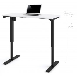 """48"""" White Electric Height Adjustable Table"""