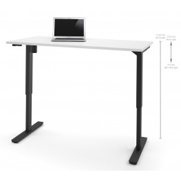 "60"" White Electric Height Adjustable Table"