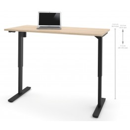 """60"""" Northern Maple Electric Height Adjustable Table"""