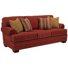 Landon Walnut Microfiber Sofa