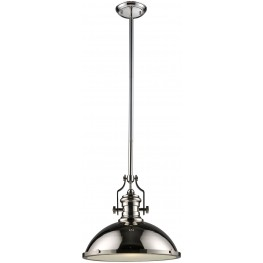 66118-1 Chadwick Polished Nickel 1 Light Pendant