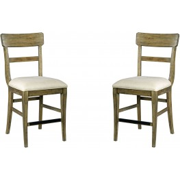 The Nook Oak Counter Height Chair Set of 2