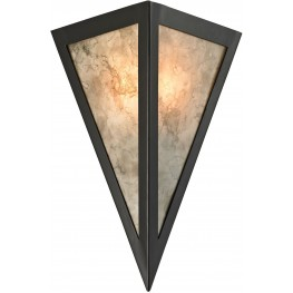 Mica Oil Rubbed Bronze And Marble Printed Mica 1 Light Wall Sconce