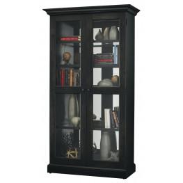 Lennon II Aged Black Curio Cabinet