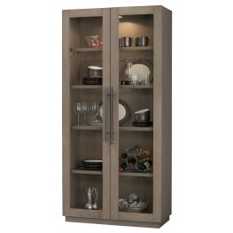 Morrissey II Aged Grey Curio Cabinet