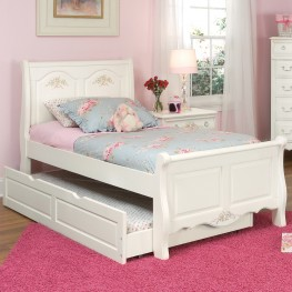 Summerset White Twin Sleigh Bed