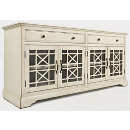 "Craftsman Antique Cream 70"" Media Unit"