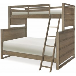 Big Sky by Wendy Bellissimo Weathered Oak Twin over Full Bunk Bed