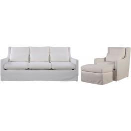 Sloane White Living Room Set