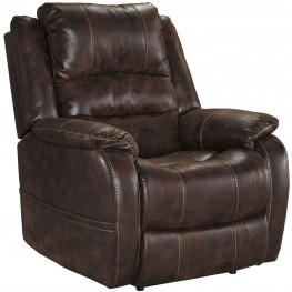 Barling Walnut Power Recliner With Adjustable Headrest