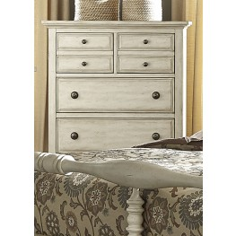 High Country White 5 Drawer Chest