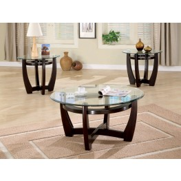 3 Piece Round Occasional Table Set - 700295