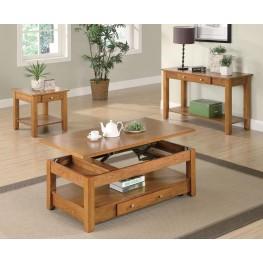 Oak Occasional Table Set 7014