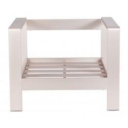 Cosmopolitan Brushed Aluminum Armchair