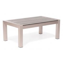 Cosmopolitan Brushed Aluminum Coffee Table