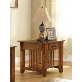Oak End Table 702007