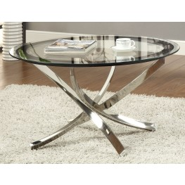 702588 Black/Chrome Coffee Table