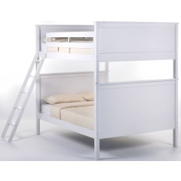 School House White Casey Full Over Full Bunk Bed