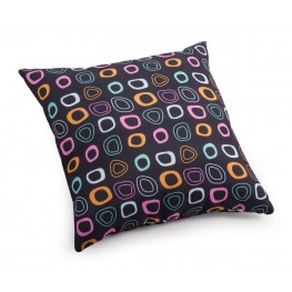 Kitten Chocolate base and mutlicolor pattern Small Pillow