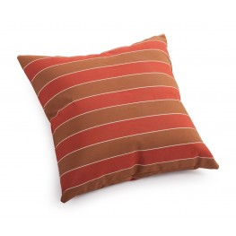 Joey Brown and Clay wide stripe Small Pillow